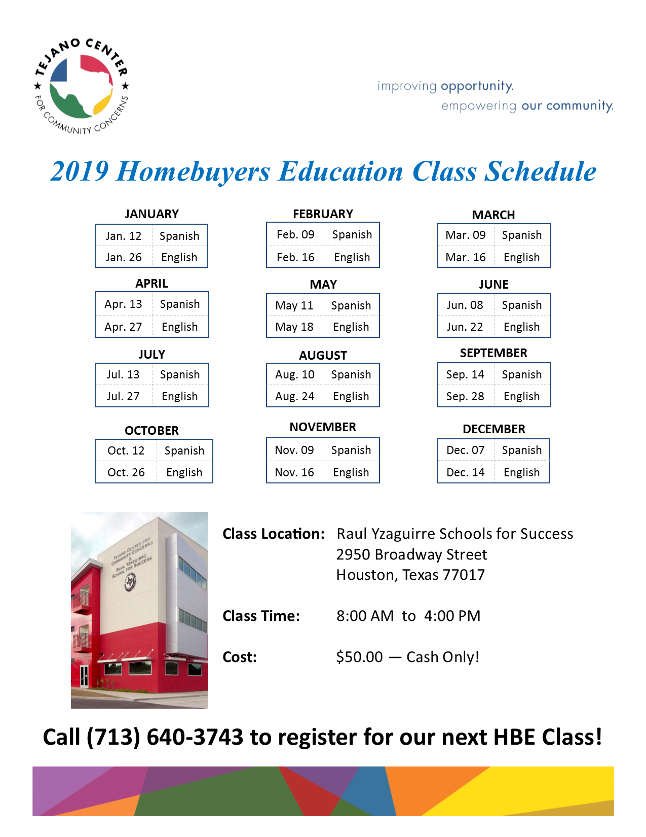 2019 Homebuyer Schedule E